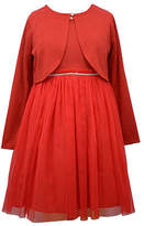 Bonnie Jean Girls Sleeveless Dress Set, 4 , Red