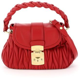 Miu Miu Matelasse Top Handle Mini Bag