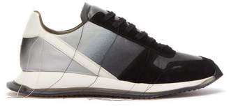 Rick Owens Vintage Runner Leather Trainers - Mens - Black White