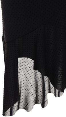 Ganni Dotted Mesh Wrap Midi Skirt