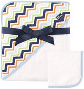 Baby Vision Hudson Baby® Chevron Hooded Towel and Washcloth Set in Blue