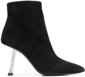Giuseppe Zanotti Statement Heel Ankle Boots