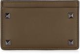 Valentino Rockstud-embellished leather cardholder