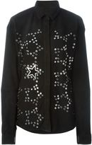 Anthony Vaccarello star eyelet shirt