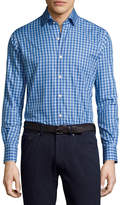 Peter Millar Crown High Latitude Gingham Cotton Shirt, Blue