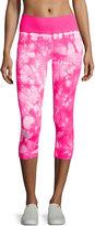 Electric Yoga Tie-Dye Capri Leggings, Hot Pink