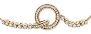 Wrapped Diamond Interlocking Loop Bolo Bracelet (1/3 ct t.w.) in 14k Gold, Created for Macy's