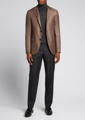 Ermenegildo Zegna Men's Basketweave Cashmere-Blend Sport Jacket