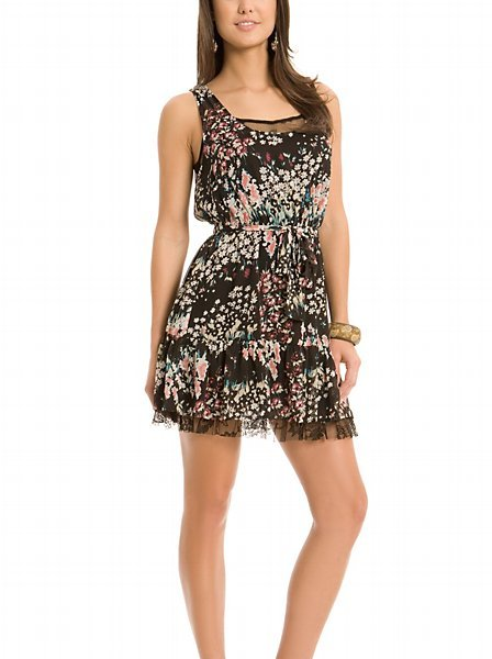 GUESS Ditsy Dress with Lace