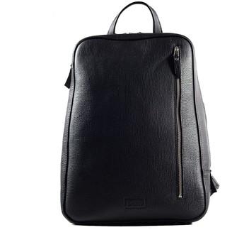 ''Marjoram'' Leather Backpack - Black