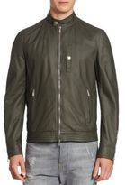 Brunello Cucinelli Leather Pilot Jacket