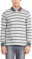 American Crew Men's Premium Jersey Long Sleeve Stripes Polo T-Shirt- XXL (AC270FS-XXL)
