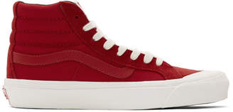 Vans Red Checkerboard OG Style 138 LX High-Top Sneakers