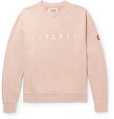 Cav Empt - Appliquéd Loopback Cotton-Jersey Sweatshirt