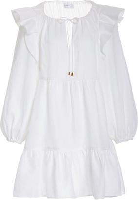 Ephemera Linen Trapeze Mini Dress