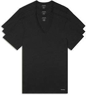 Calvin Klein Short-Sleeve V-Neck Tee - Pack of 3