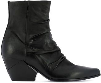 Elena Iachi Pointed Toe Ankle Boots