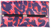Diane von Furstenberg Printed Leather Heritage Clutch
