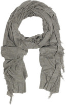 T by Alexander Wang Fringed fine-knit scarf