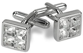 A-Z Collection Silver Plated Jeweled Cufflinks