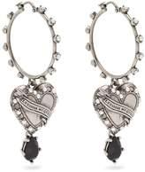 Alexander McQueen Heart Locket embellished hoop earrings