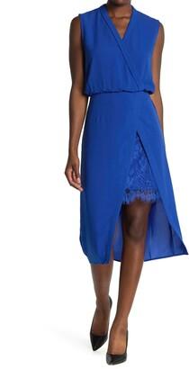 NSR V-Neck Sleeveless Lace Inset Dress
