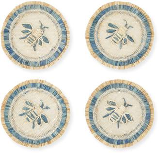 Joanna Buchanan Bee Straw Coasters, Set of 4
