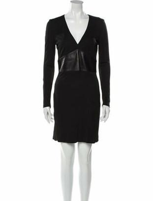 Gianni Versace V-Neck Mini Dress Black