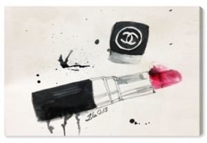"Oliver Gal Lipstick Stains Canvas Art, 24"" x 16"""
