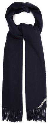 Acne Studios Canada Fringed Wool Scarf - Womens - Navy