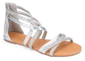 OLIVIA MILLER Stuart Glitter Rhinestone Sandals Women's Shoes