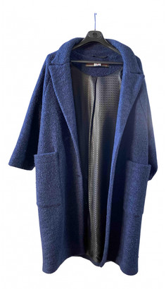 Warm Blue Wool Coats