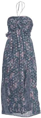 IRO Somov Paisley Lurex Jacquard Halter Midi Dress