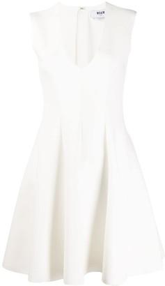 MSGM V-Neck Skater Dress