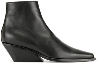 Ann Demeulemeester Zipped Chunky-Heel Ankle Boots