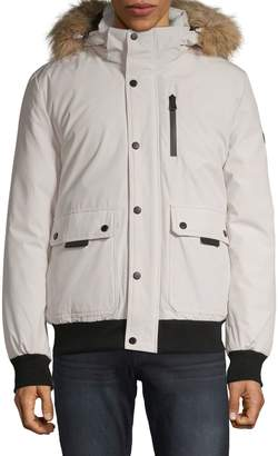 Calvin Klein Bomber Parka Jacket with Faux Fur Trim