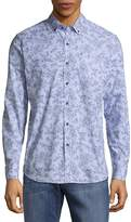 Report Collection Men's Floral Print Button-Down Shirt