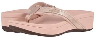 Vionic High Tide Metallic (Rose Gold) Women's Sandals
