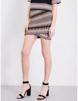 Maje Jenia knit-jacquard skirt