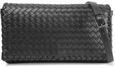 Bottega Veneta Convertible Intrecciato Leather Shoulder Bag - Black