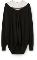 Collection sheer yoke pullover