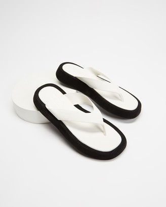 Therapy Women's White All thongs - Kari - Size 7 at The Iconic