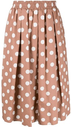 Steffen Schraut Polka-Dot Skirt