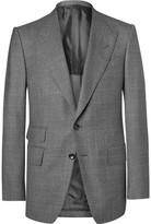 Tom Ford Grey Slim-Fit Prince of Wales Checked Wool Suit Jacket