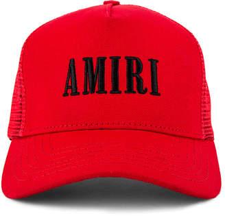 Amiri Trucker Hat in Red & Black | FWRD