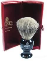 Kent Black Traditional Medium Pure Gray Badger Shave Brush - BLK2