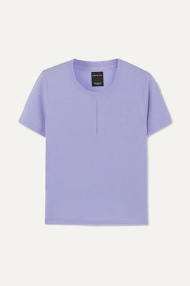 NAGNATA + Net Sustain Trash Merino Wool-blend T-shirt - Lilac
