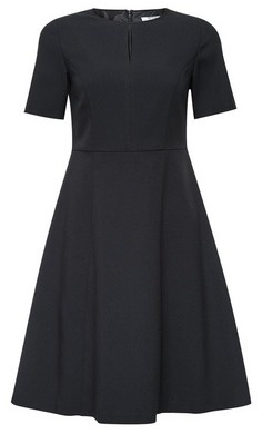 Dorothy Perkins Womens Petite Black Fit And Flare Dress, Black