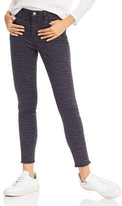 Aqua Zebra Print Skinny Jeans in Navy/Black - 100% Exclusive