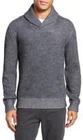 Billy Reid Men's Waffle Knit Shawl Collar Alpaca Blend Sweater